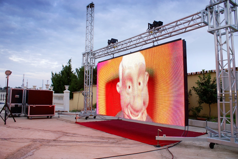 LED display P10 rental for outdoor